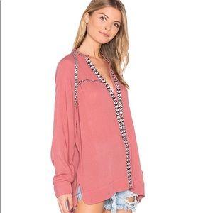 [ Tularosa ] Wyatt Tunic blouse in Rose S